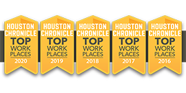 Houston Chronicle Top Workplace Badges 2016-2020