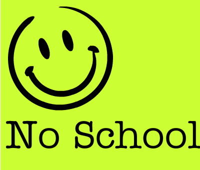 no school smiley face