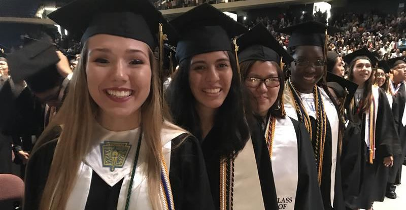 Hastings High School graduates at the Berry Center