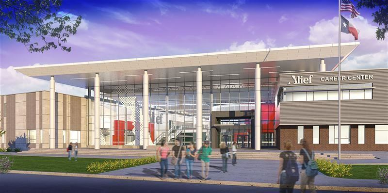 Digital rendering of the Career Center entrance