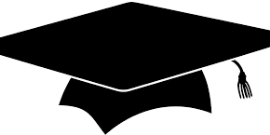 Image of a black graduation cap and tassle