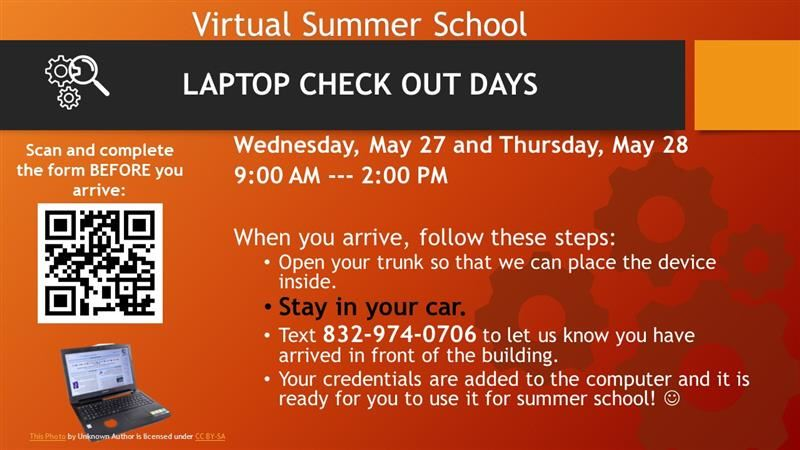 Virtual Summer School Laptop Check Out Procedures