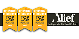Houston Chronicle Top Workplace for 2016-2018 for Alief ISD