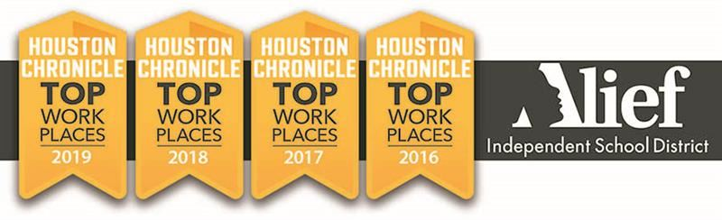 Alief Top Workplace 4 Years in a Row Logo