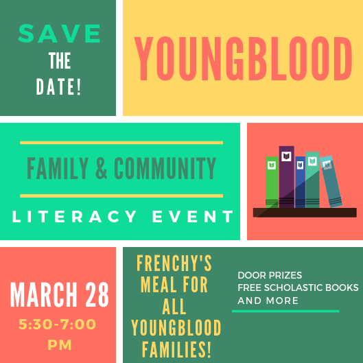 FAME Literacy Event March 28th from 5:30-7:30