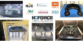 Alief ISD & HCC partner with H-Force to make face shields with 3D printers