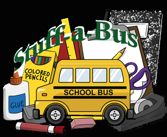 Image of school supplies and bus