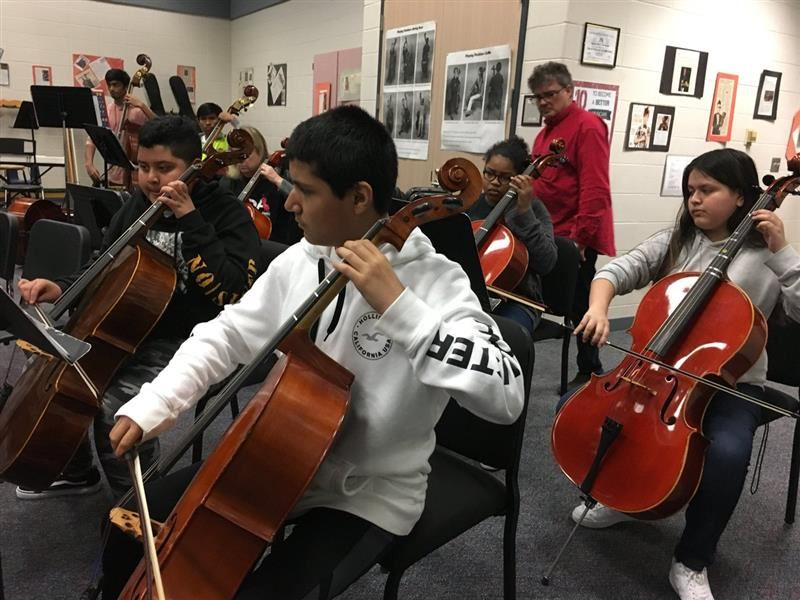 Alief Middle School orchestra students