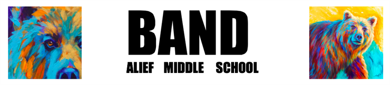 Alief Middle School band banner