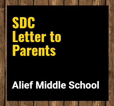 SDC Letter to Parents
