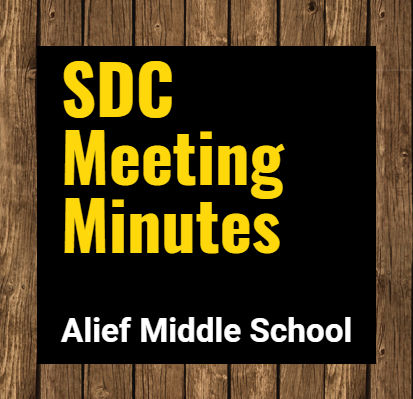 SDC Meeting Minutes