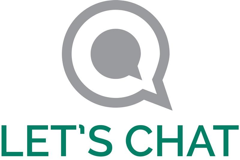Let's Chat logo with messaging bubble