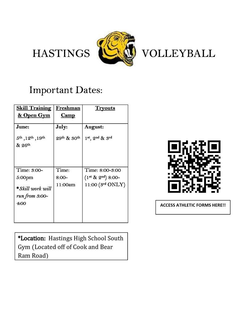 volleyball schedule and QR code