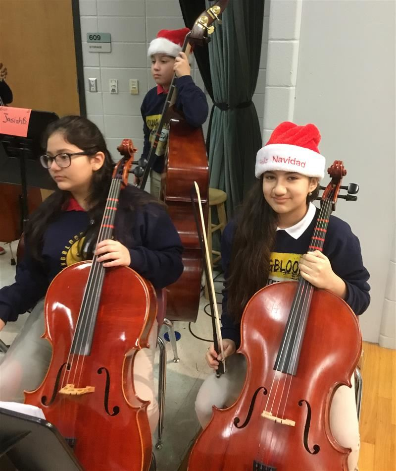cello players at Winter Showcase