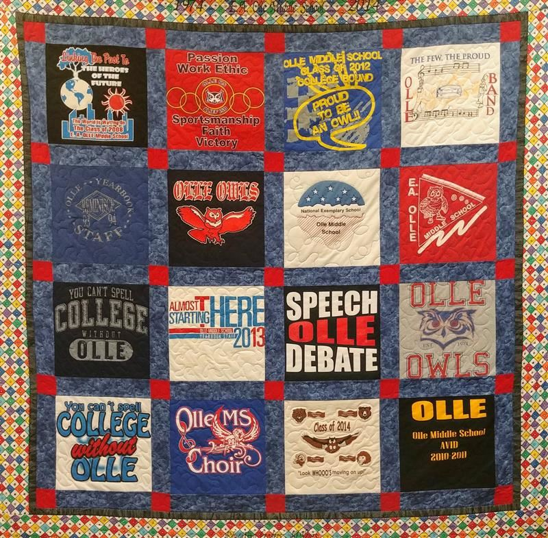 Quilt presented by long-time Olle Registrar Kathy Ernest at Olle's rededication in 2014