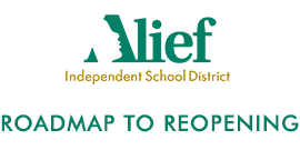 District logo with Roadmap to Reopening text