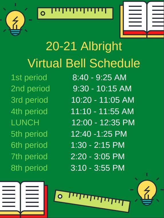 An image of the virtual bell schedule