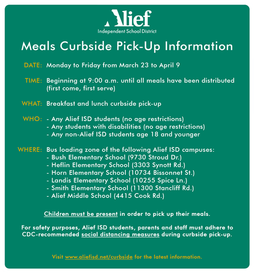 Curbside Meals Info