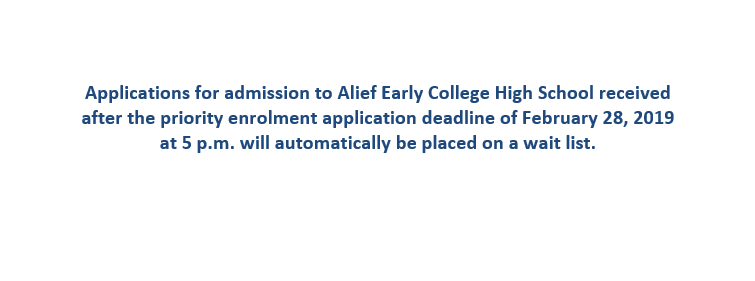 Alief Early College High School Homepage