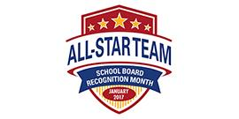 Art from TASB of the All-Star Team graphic depicting School Board Recognition Month